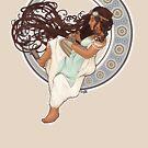 Steampunk Mucha Girl by Sean Atlas