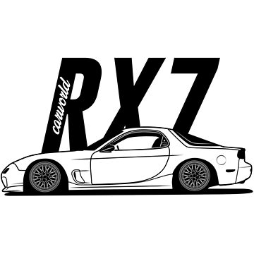 Mazda RX7 FD FD3S Side Best Shirt Design by CarWorld