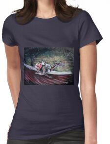Greyhound Number Three Womens Fitted T-Shirt