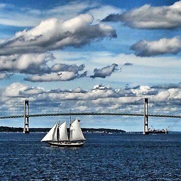 Boat and Bridge by Rhody53