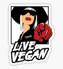 VeganChic ~ Live Vegan Sticker
