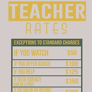 Teacher rates by Faba188