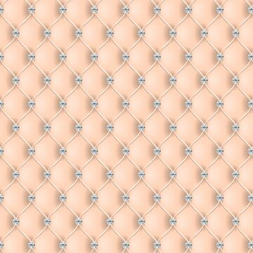 Elegant Apricot Peach Diamond Tufted Look Upholstery Pattern by jollypockets