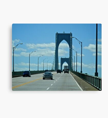 Up the Newport Bridge - Rhode Island - 2010 *featured in Drive By Shooting Group Canvas Print
