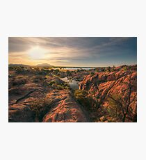 Willow Cliffs Wide Photographic Print