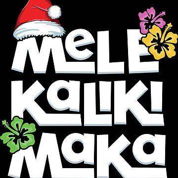 Mele Kalikimaka Christmas T-Shirt Hawaiian Xmas Santa by 14thFloor