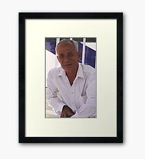 Old man Da Lat Framed Print