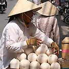Saigon coconut seller by mooksool