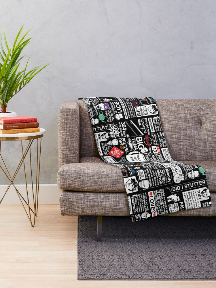 Alternate view of Wise Words From The Office - The Office Quotes Throw Blanket