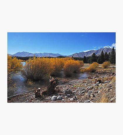 Lake Tekapo shoreline Photographic Print