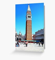 clock tower in venice Greeting Card