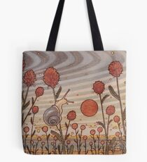 Snail in the Flowers Tote Bag