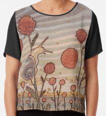 Escargot dans les fleurs Top mousseline