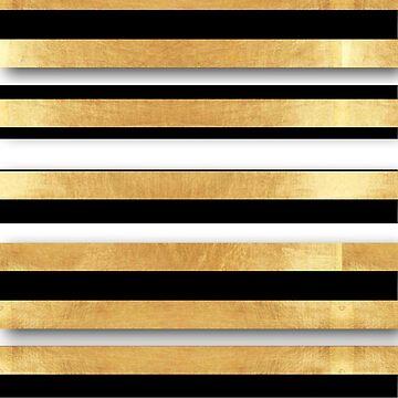 Random stripes, gold,white,black,modern,trendy,girly,preppy,elegant,chic,decorative by love999