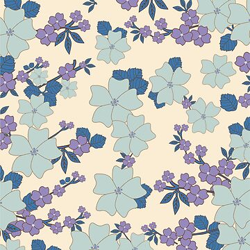 vintage,retro,floral pattern,shabby chic,pattern,country chic,roses,flowers,turqouise background,purple,white,modern,trendy,girly,mint, by love999