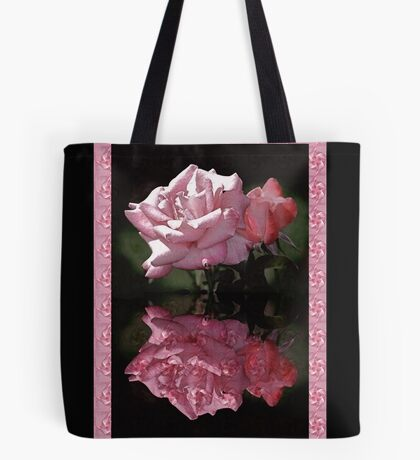 Passionately Pink Rose Duo Tote Bag