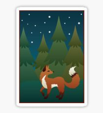 Forest Fox Sticker