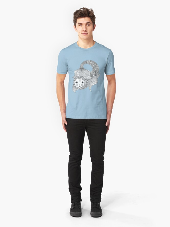 Alternate view of Something a bit fishy... Slim Fit T-Shirt