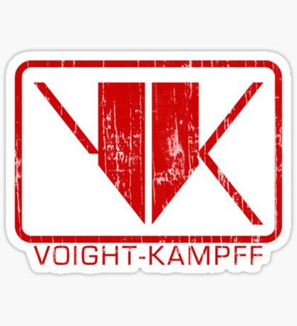 Voight-Kampff Distressed Sticker