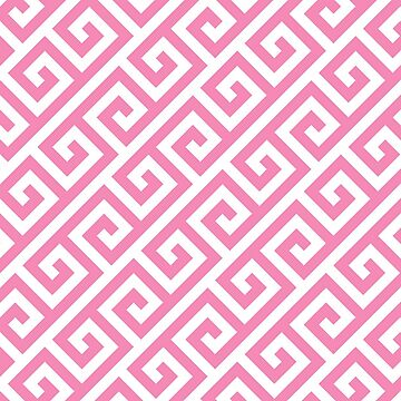 pink,white,greek,key,pattern,modern,trendy,girly,decorative,trellis by love999