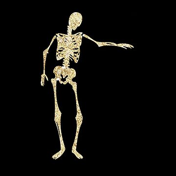 glitter,glam,gold,skeleton,chic halloween, black background,halloween by love999