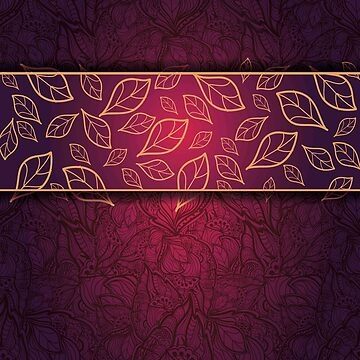 deep red, gold,purple,leaf pattern, floral,modern,trendy,chic,elegant,girly by love999