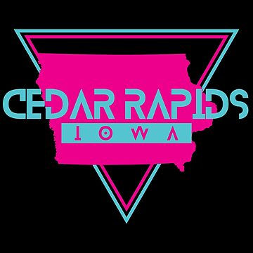 Cedar Rapids Iowa Souvenirs IA Retro by fuller-factory