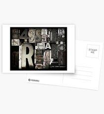 Custom Letterpress Postcards