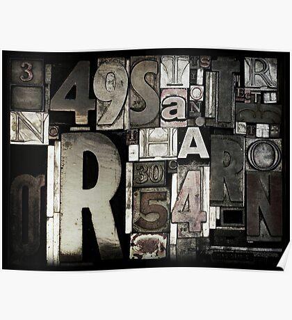 Custom Letterpress Poster