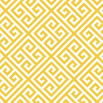 yellow, white,greek key pattern, trellis,modern,trendy,girly,elegant by love999