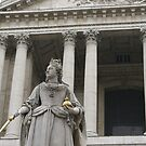 detail monument of Queen Anne, St Paul's  by BronReid
