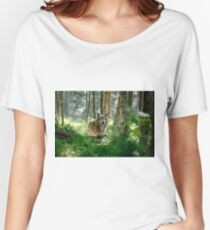 Timberwolf in Forest Women's Relaxed Fit T-Shirt