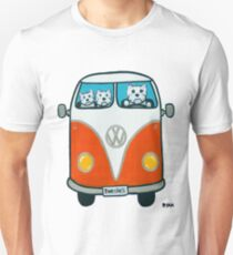 Westies in a VW T-Shirt