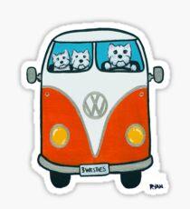 Westies in a VW Sticker