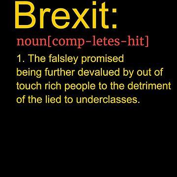Brexit T Shirt Funny Remain EU No Deal T-Shirt by thehadgaddad