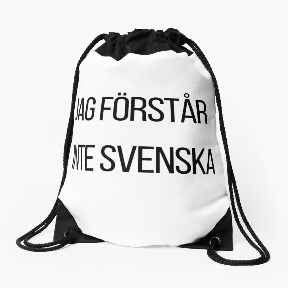 Ich verstehe kein Schwedisch  Turnbeutel