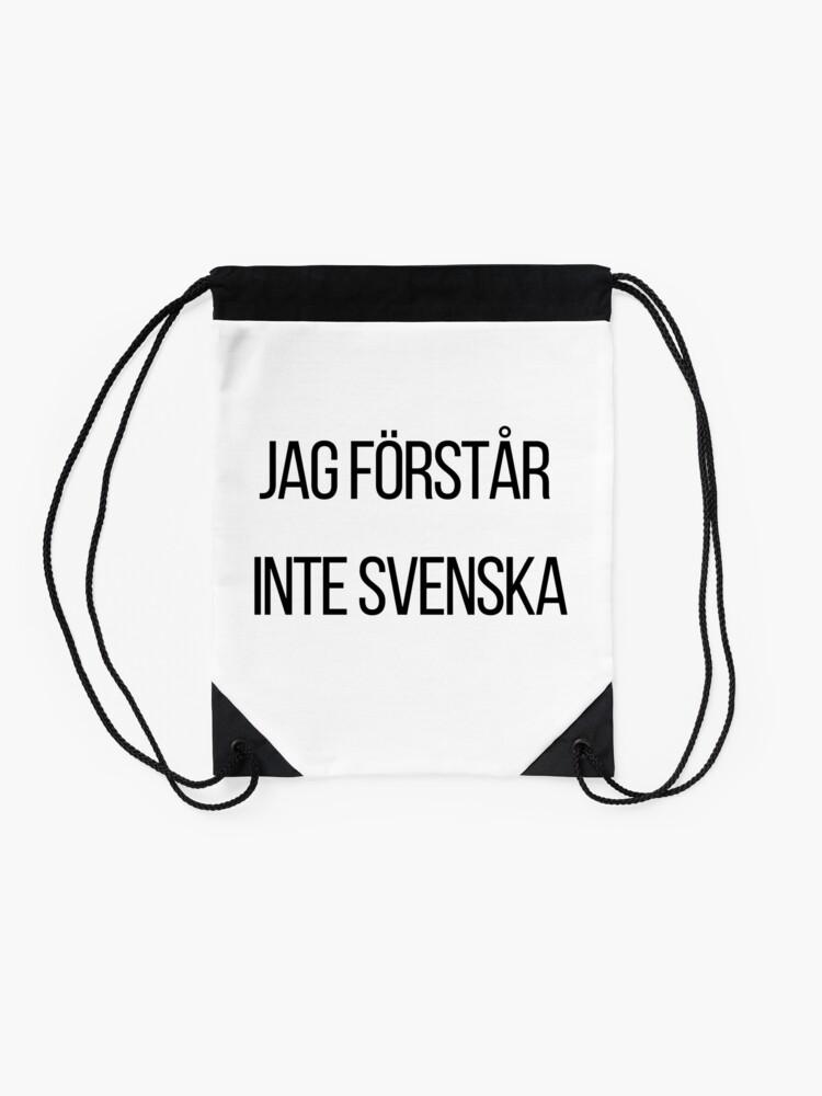 Alternative Ansicht von Ich verstehe kein Schwedisch  Turnbeutel