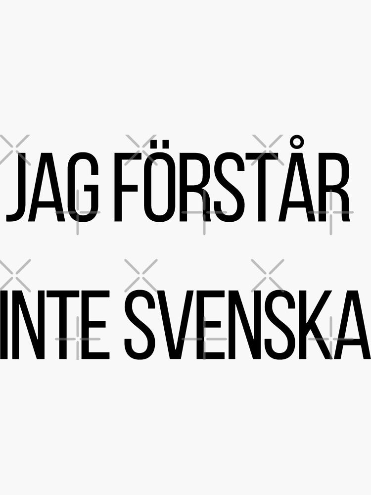 Ich verstehe kein Schwedisch  von RTSM