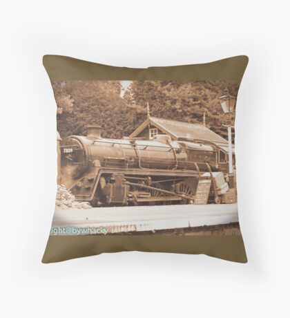 Steam past and present  Throw Pillow