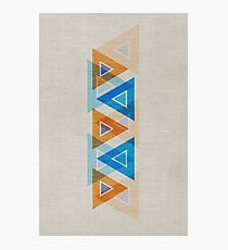 Abstract Triangle Pattern Photographic Print