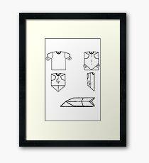 plane-t-shirt Framed Print