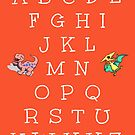 English Alphabet with Baby Dinosaurs by EvePenman
