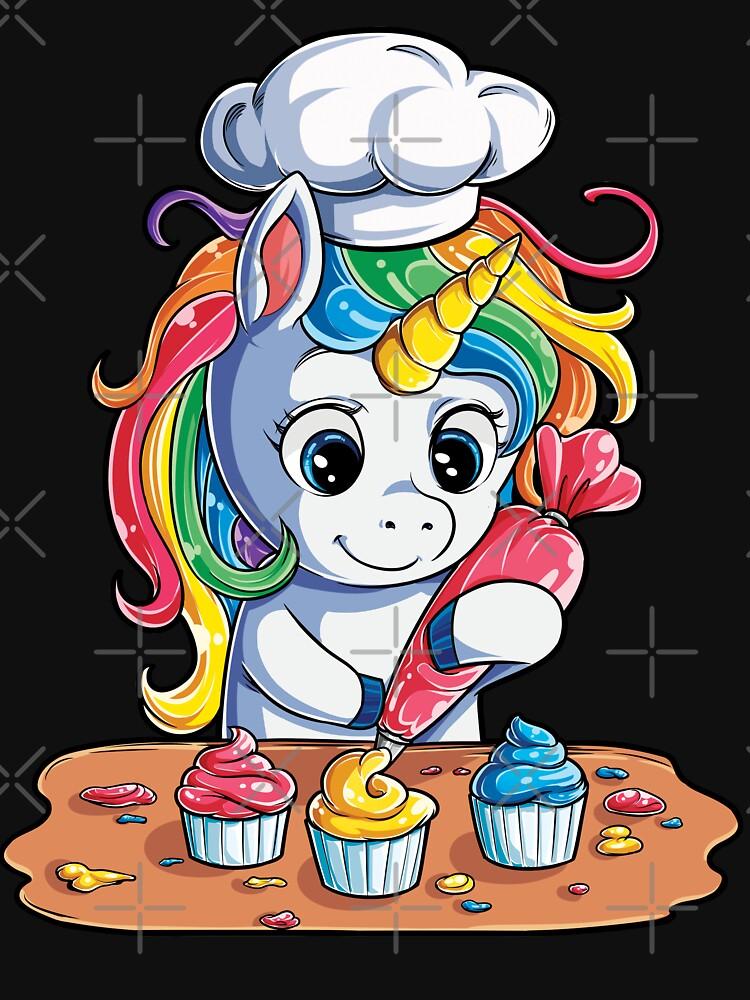 Unicornio Hornear Cupcake Camiseta Niños Niñas Niños Rainbow Squad Regalos lindos Fiesta Hombres Mujeres de LiqueGifts