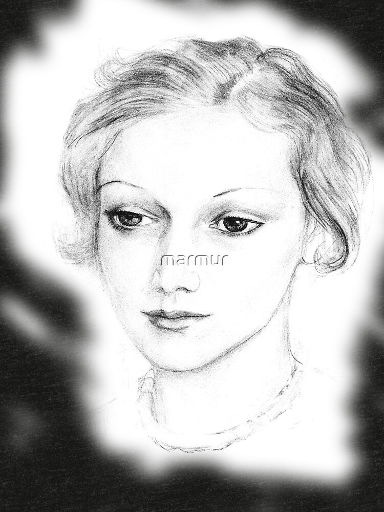 Drawing of a lovely girl by marmur