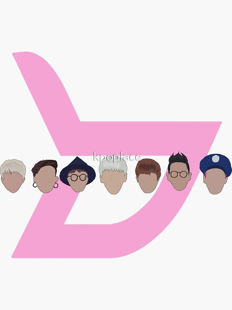 block b logo heads von kpoplace
