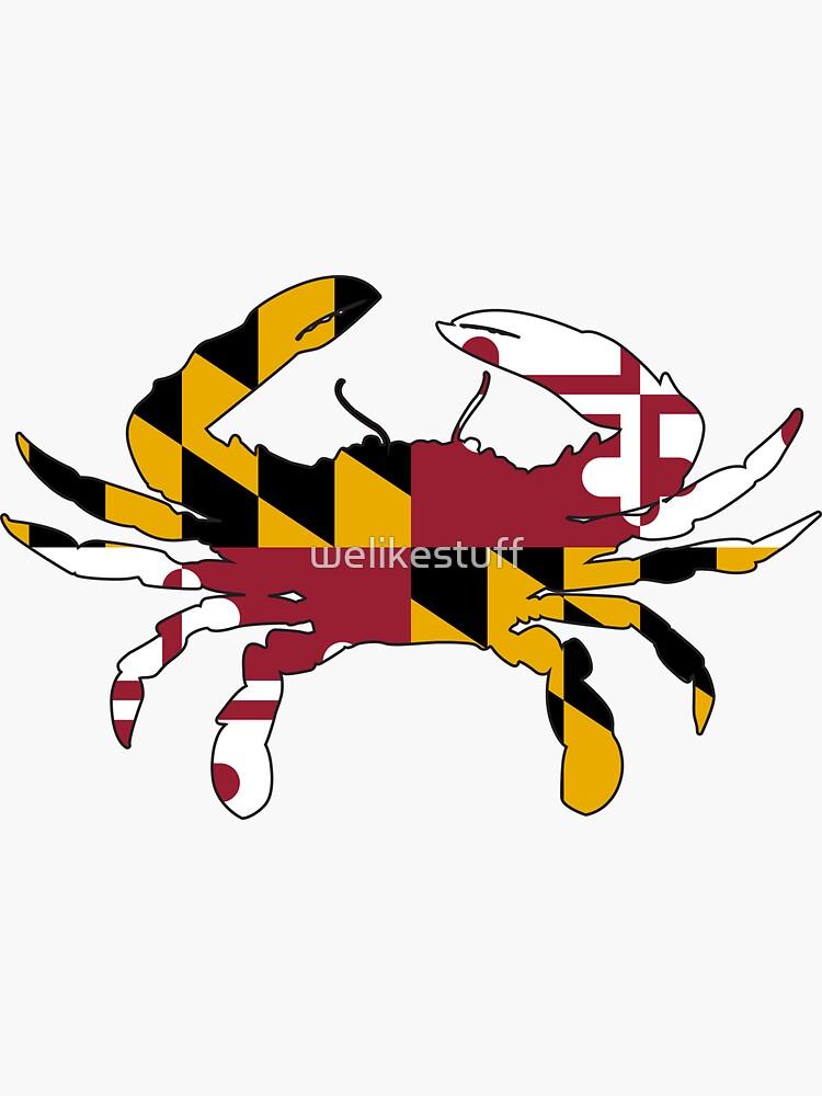 Cangrejo de la bandera de Maryland de welikestuff