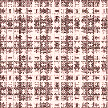 Trendy Rose Gold Square Oriental Glitter Pattern by jollypockets