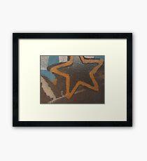 """Hollywood"" Star Framed Print"