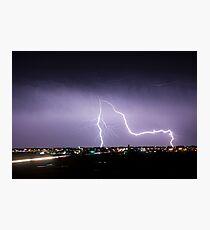City Lightning Intersection Photographic Print