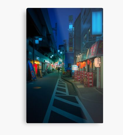 Small Streets of Koenji Metal Print